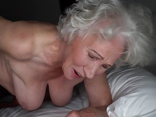 Grey-haired cunt of chunky granny gets pounded by young stud