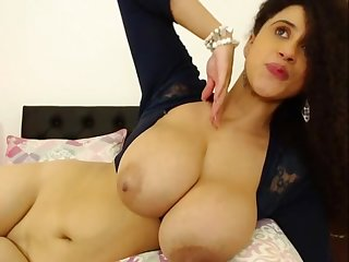 Oversexed milf shows her big bowels on webcam and likes the compliments