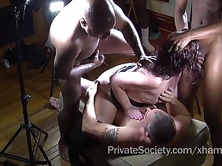 The Private Society Gangbang Conquer Be fitting of Lonely Housewives