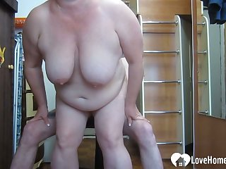 GILF likes to choke unaffected by my huge dick