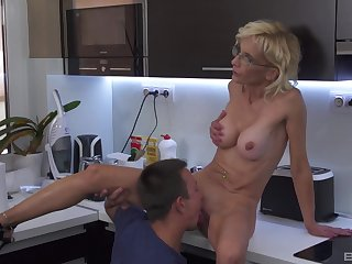 Sweet aunt sucks nephew and lets him have sex her pussy