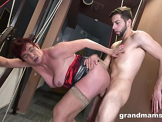 Granny gets hard fucked in crazy scenes by her own nephew