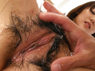 Japanese wife, Aki Ninomiya got pleased, sated