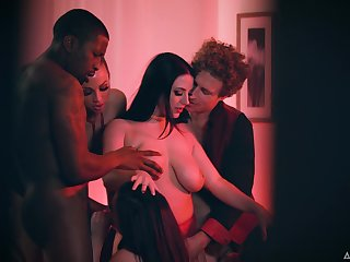 Gay blade choker his wife having an orgy with her friends and their lovers
