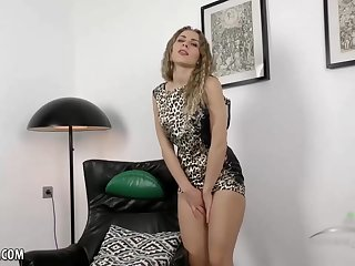 Hairy babe took off their way animal printed dress and started masturbating like crazy, on the phrase