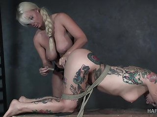Emotional poor submissive prostitute Joanna Angel is fucked nigh strapon