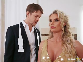 Anal loving mature wife Phoenix Marie moans during wild fucking