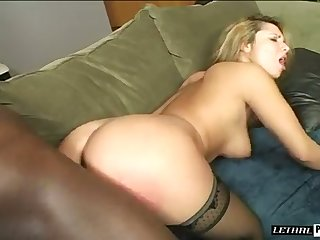Strong black stud bangs meaty pussy of curvy proper namby-pamby MILF