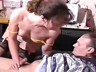 Handjob loving jet-black toying with white guys cock