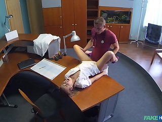 Dolour Alexis gets a hot surprise not later than her shift at the clinic