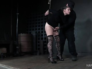Submissive babe in stockings Lexxxi Nicole Phosphoresce gets punished