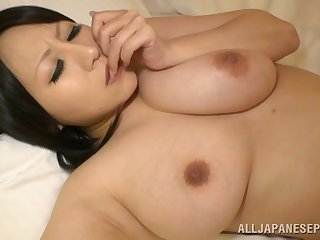 Big Asian wife Hana Nonoka licked added to fucked in the hotel room
