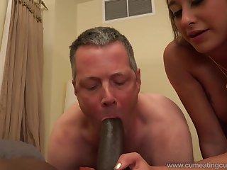 Happy blonde wife cuckold big deathly dick