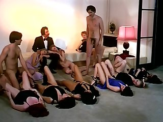 Vintage sex orgy command anent horny company of girls